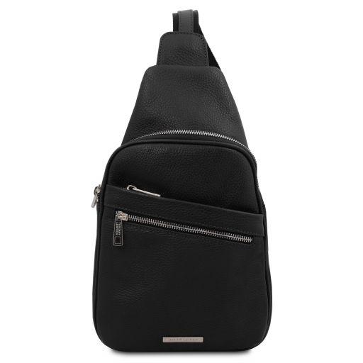 Albert Soft leather crossover bag Черный TL142022