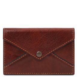 Leather business card / credit card holder Коричневый TL142036