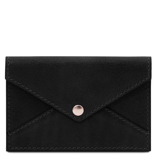 Leather business card / credit card holder Черный TL142036