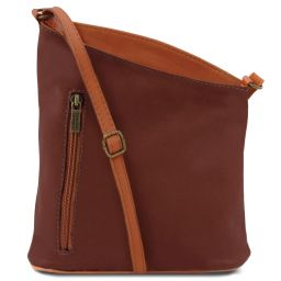 TL Bag Sac bandoulière mixte en cuir souple Marron TL141111