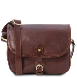 Alessia Leather shoulder bag Коричневый TL142020