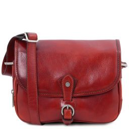 Alessia Leather shoulder bag Red TL142020