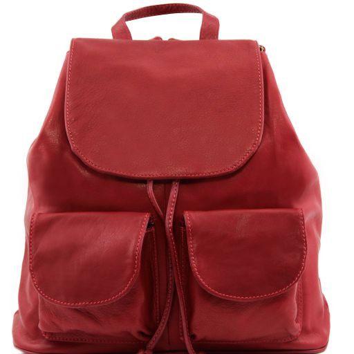 Seoul Zaino in pelle morbida - Misura grande Rosso scuro TL141507