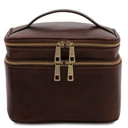 Eliot Beauty case in pelle Testa di Moro TL142045