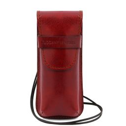 Exclusif étui pour lunettes/Smartphone/porte montres en cuir Rouge TL141282