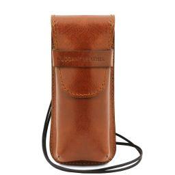Exklusives Brillen-/Smartphone-/Uhren - Etui aus Leder Honig TL141282