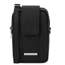 TL Bag Soft Leather cellphone holder mini cross bag Черный TL141698