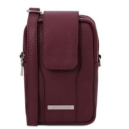 TL Bag Soft Leather cellphone holder mini cross bag Bordeaux TL141698