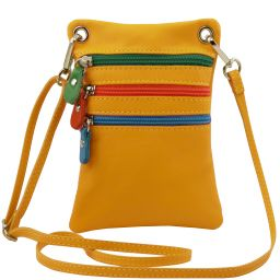 TL Bag Soft leather mini cross bag Yellow TL141094