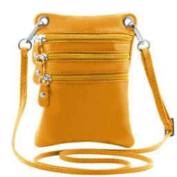 TL Bag Bolsillo unisex en piel suave Amarillo TL141368