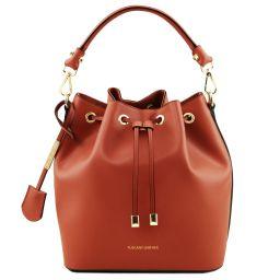 Vittoria Leather secchiello bag Brandy TL141531