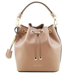 Vittoria Leather secchiello bag Champagne TL141531