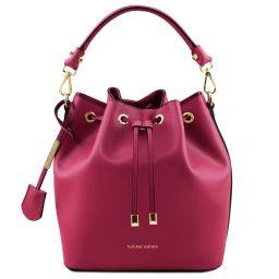 Vittoria Leather bucket bag Фуксия TL141531