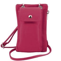 TL Bag Soft Leather cellphone holder mini cross bag Fucsia TL141423