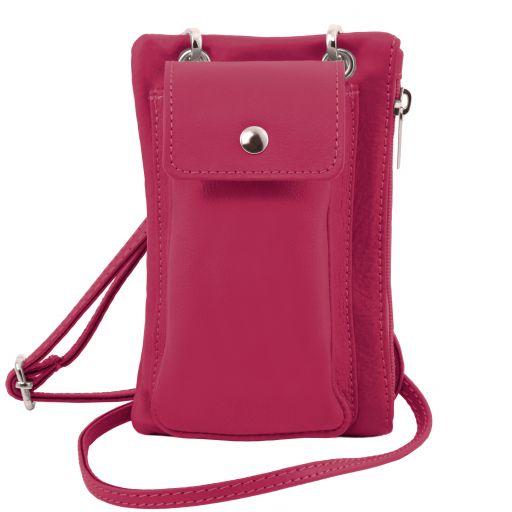 TL Bag Bolsillo Porta móvil en piel suave Fucsia TL141423