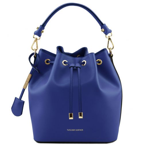 Vittoria Leather bucket bag Blue TL141531