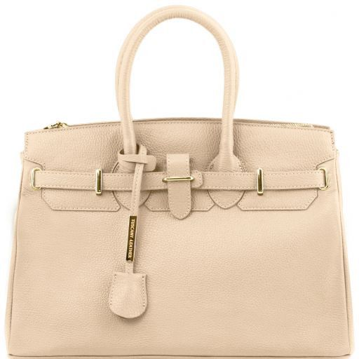TL Bag Borsa a mano media con accessori oro Beige TL141529