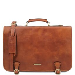 Ancona Leather messenger bag Natural TL142073