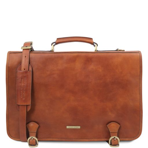 Ancona Leather messenger bag Natural TL142073
