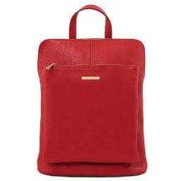 TL Bag Mochila para mujer en piel suave Rojo Lipstick TL141682
