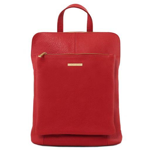 TL Bag Zaino donna in pelle morbida Rosso Lipstick TL141682