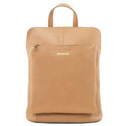 TL Bag Lederrucksack für Damen aus weichem Leder Champagne TL141682