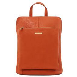 TL Bag Sac à dos pour femme en cuir souple Brandy TL141682