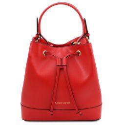 Minerva Leather secchiello bag Lipstick Red TL142050