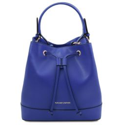 Minerva Leather bucket bag Синий TL142050