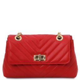 TL Bag Soft leather shoulder bag Lipstick Red TL142015