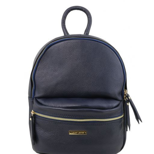 TL Bag Zaino donna in pelle morbida Blu scuro TL141532