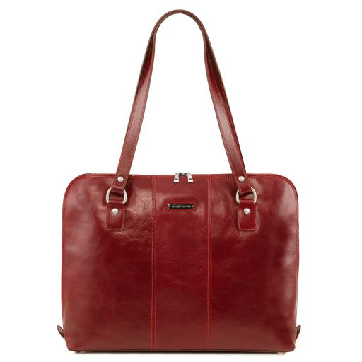 Ravenna Damen Business Tasche aus Leder Rot TL141795