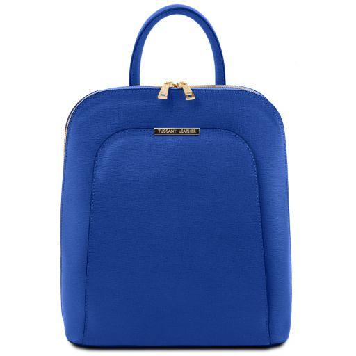 TL Bag Zaino donna in pelle Saffiano Blu TL141631