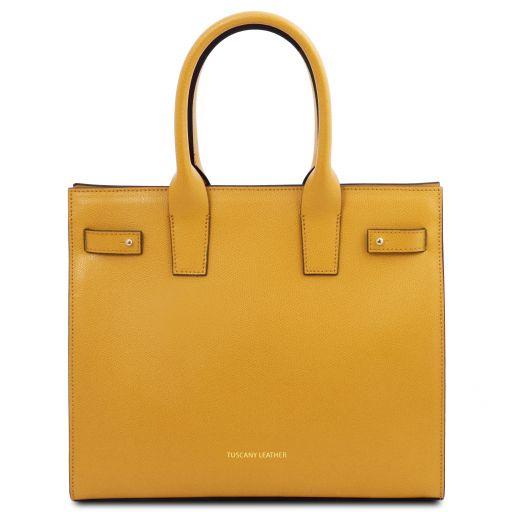Catherine Leather handbag Yellow TL141933
