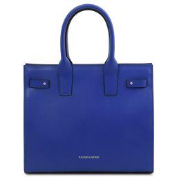 Catherine Leather handbag Blue TL141933
