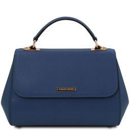 TL Bag Leather handbag - Large size Dark Blue TL142077