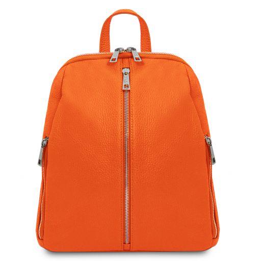 TL Bag Mochila para mujer en piel suave Naranja TL141982