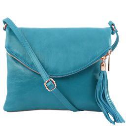 TL Young Bag Sac bandoulière avec pompon Turquoise TL141153