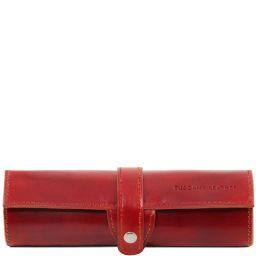Exclusif étui pour stylos en cuir Rouge TL141620
