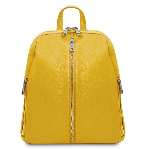 TL Bag Lederrucksack für Damen aus weichem Leder Gelb TL141982