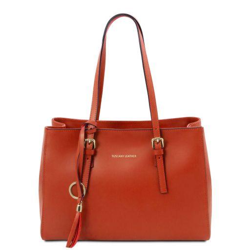 TL Bag Schultertasche aus Leder Brandy TL142037