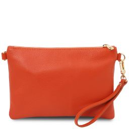 TL Bag Pochette in pelle morbida Brandy TL142029