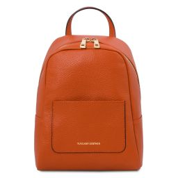 TL Bag Small soft leather backpack for women Brandy TL142052