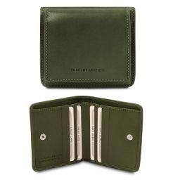 Elégant portefeuille en cuir avec porte monnaie Vert TL142059