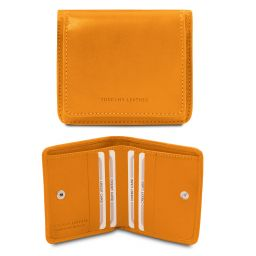 Exclusive leather wallet with coin pocket Yellow TL142059
