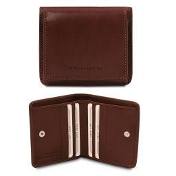 Esclusivo portafoglio in pelle con portamonete Testa di Moro TL142059