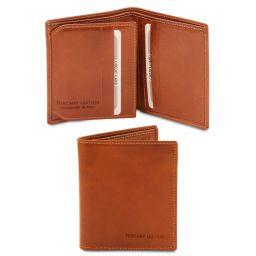 Elégant portefeuille en cuir pour homme 3 volets Miel TL142057
