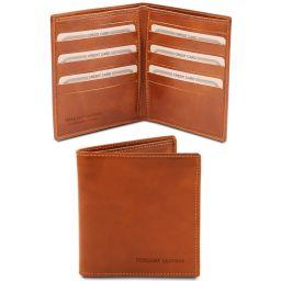 Elégant portefeuille en cuir pour homme 2 volets Miel TL142060