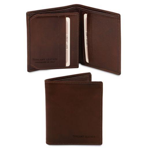 Esclusivo portafoglio uomo in pelle 3 ante Testa di Moro TL142057