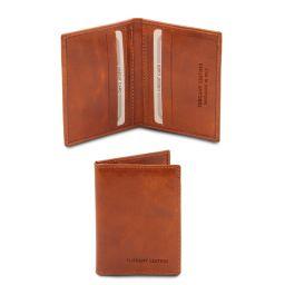 Elégant porte cartes en cuir Miel TL142063